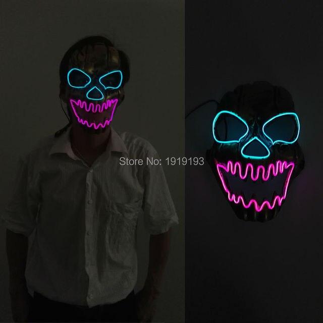 Aliexpress.com : Buy Horror EL wire mask Light Up Neon skull LED ...