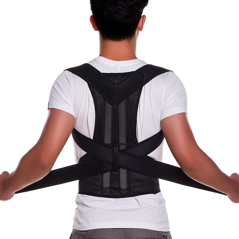 Adjustable Back Brace Posture Corrector Back Support Shoulder Belt Men/ Women Health Care Black Size S/M/L