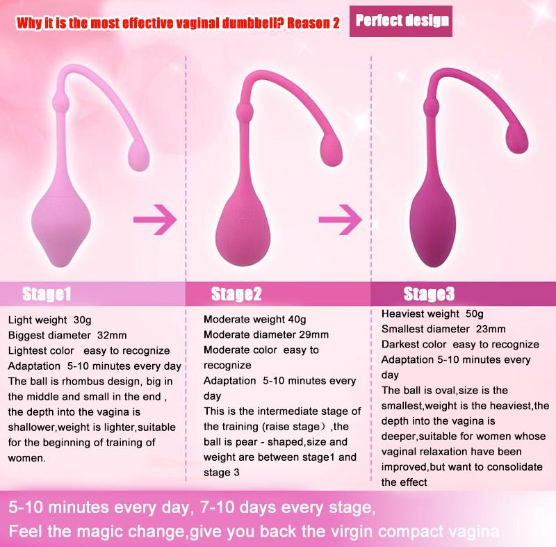 Magic Vaginal Dumbbell Leten alat melatih otot vagina