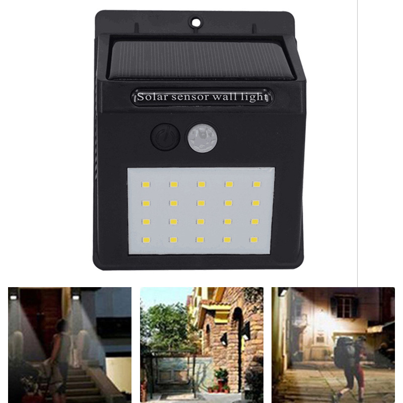 20 LED Solar Light Motion Sensor Energy Saving Lamp Security Wall Lights for Garden Patio Deck Yard LB88