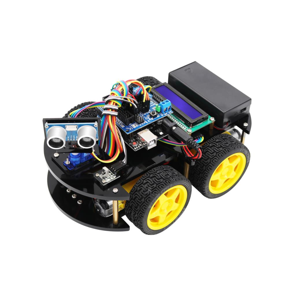 LAFVIN Smart Robot Car Kit with UNO R3 Ultrasonic Sensor Bluetooth Module for Arduino