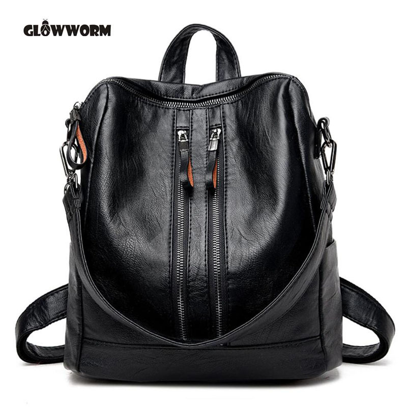Women Genuine Leather Backpack School Bags For Teenagers Girl's Travel Bag Designer High Quality Sheepskin Backpacks Mochilas