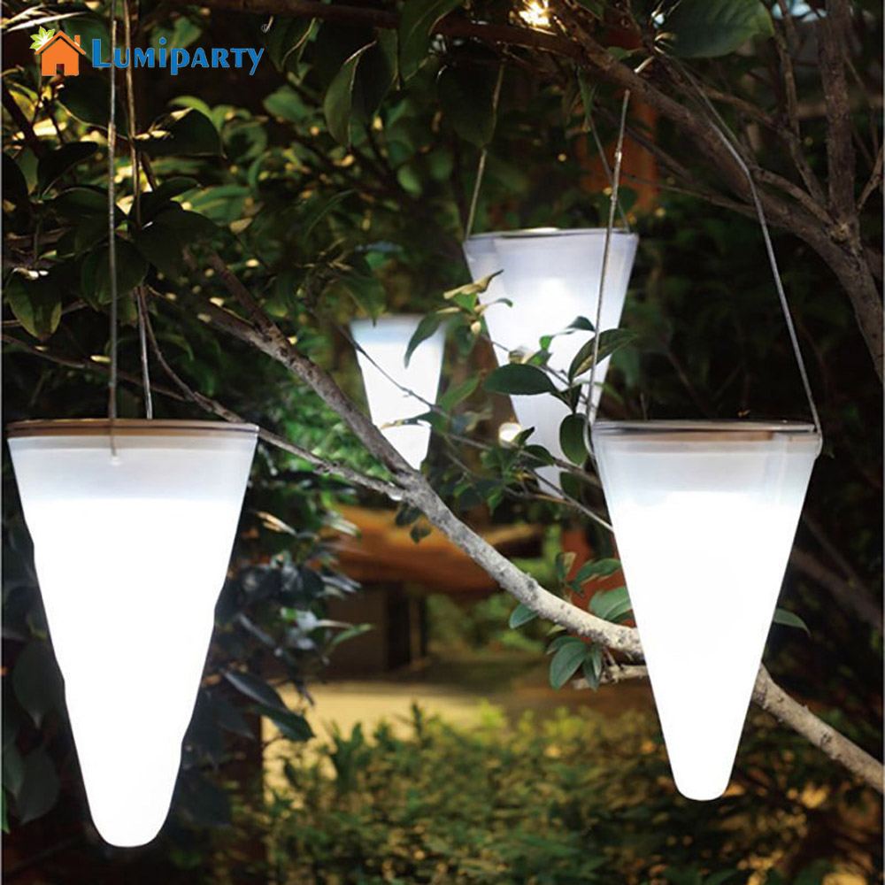 lumiparty solar led light garden decoration hanging light color changing taper balcony chandelier outdoor decorative lights - Outdoor Decorative Lights