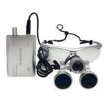 ผ่าตัดแว่นขยายอุปกรณ์ทันตกรรมผ่าตัดทันตแพทย์แว่นขยายพร้อมหลอดไฟ LED 3.5X420mm Loupes