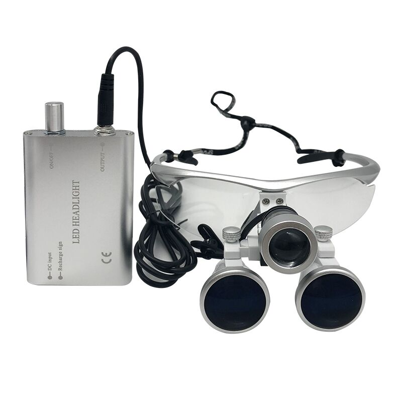 Dental Loupes 3.5X 420 mm Surgical Magnifying Glasses Dental Equipment Surgical Dentists Magnifier with LED Head Light Lamp dental loupes 3 5x 420 mm surgical magnifier binocular magnifier with led head light lamp surgical dentists magnifier