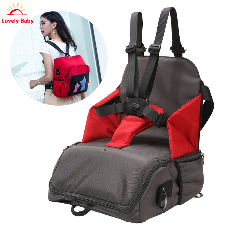 Baby Diaper Bag Portable Baby Feeding Highchair Mummy Bag Infant Booster Seat Fashion Mummy Maternity Nappy