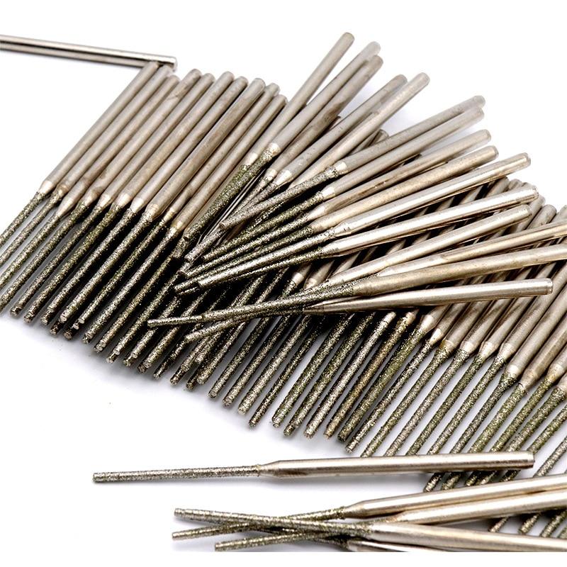 5PCS Longer 15~30mm Diamond Punch Needle Crystal Drill Jade Drilling Needle Crystal Jade Drill