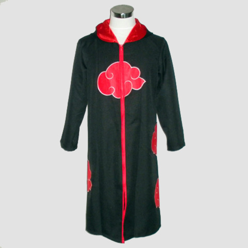 NARUTO Robe Halloween Uniform Anime Cosplay Costume Hooded Wind Coat Naruto Akatsuki Uchiha Sasuke Uniform Cloak Unisex