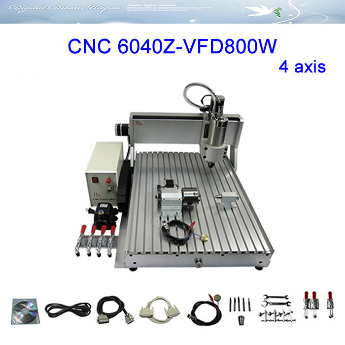 4 axis CNC Router LY 6040Z-VFD800W Engraving Drilling Milling Machine Russia tax free диван friendly faces of the qing dynasty rh