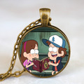 Steampunk Drama Gravity Falls Mysteries BILL CIPHER WHEEL Pendant Charming Necklace doctor who 1pcs/lot chain men fashion chains