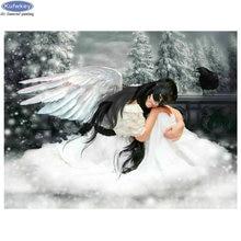 Алмазная живопись «сделай сам» маска ангела Картина Набор для