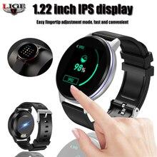 สร้อยข้อมือสมาร์ท LIGE IP67 นาฬิกาฟิตเนสกันน้ำการเชื่อมต่อบลูทูธ Android Ios ความดันโลหิต Monitor Pedometer สายรัดข้อมือ