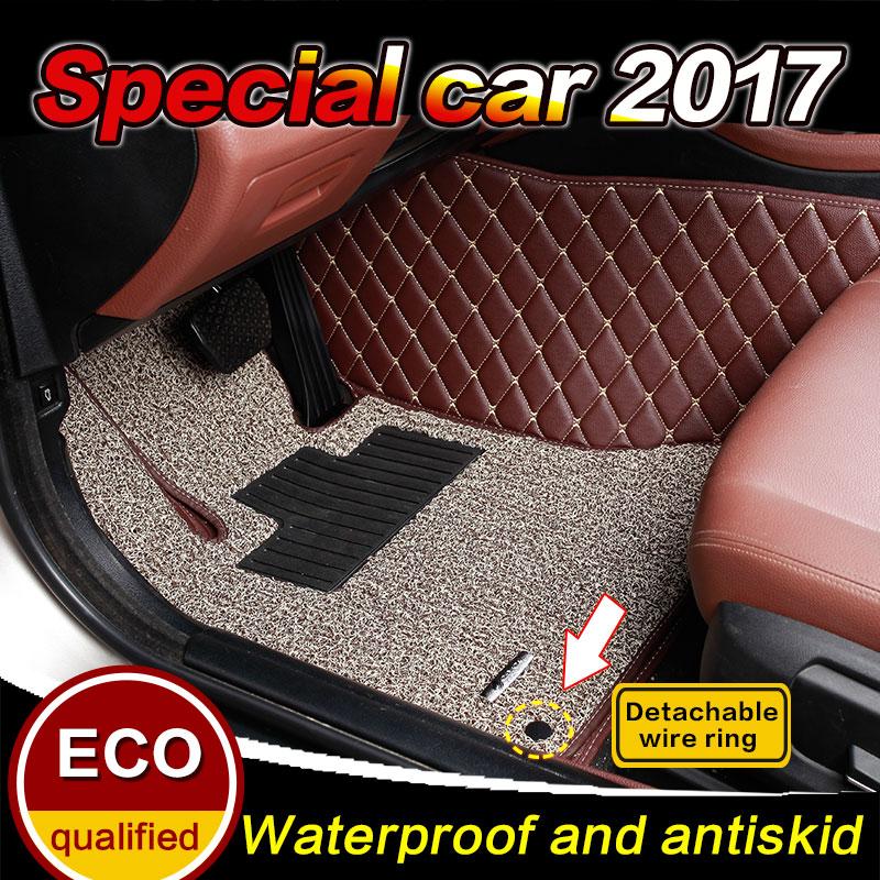 Custom Car floor mats for HONDA ELYSION Vezel FIT City Crosstour JADE Spirior 2004-2017 3D car-styling floor carpet liners mats