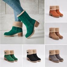 Женская обувь зимние ботинки женские зимние теплые ботинки из флока ботильоны «мартинсы» короткие ботинки без шнуровки, Уличная обувь Botas C011