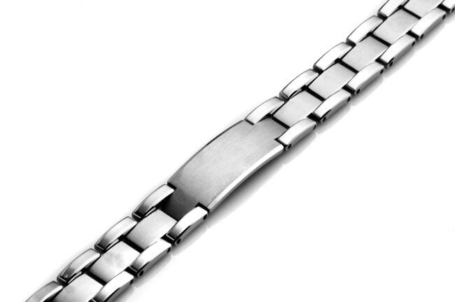 Men Tungsten Carbide Polish Bracelet