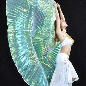 Image 3 - คุณภาพสูงขายส่ง belly dance ผู้หญิง Belly Dance โปร่งแสงปีกหญิง isis ปีก Dance สำหรับ Props Lady Dance ผ้า