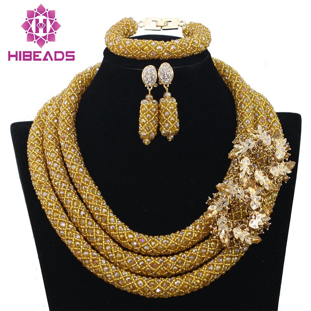 Big Full Handmade Braid Beads African Jewlery Set Silver Nigerian ...