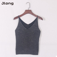 12 Colors Women V Neck Sleeveless Knitted Camis Spaghetti Strap Casual Tops Roupas Solid Color Tops Shirt