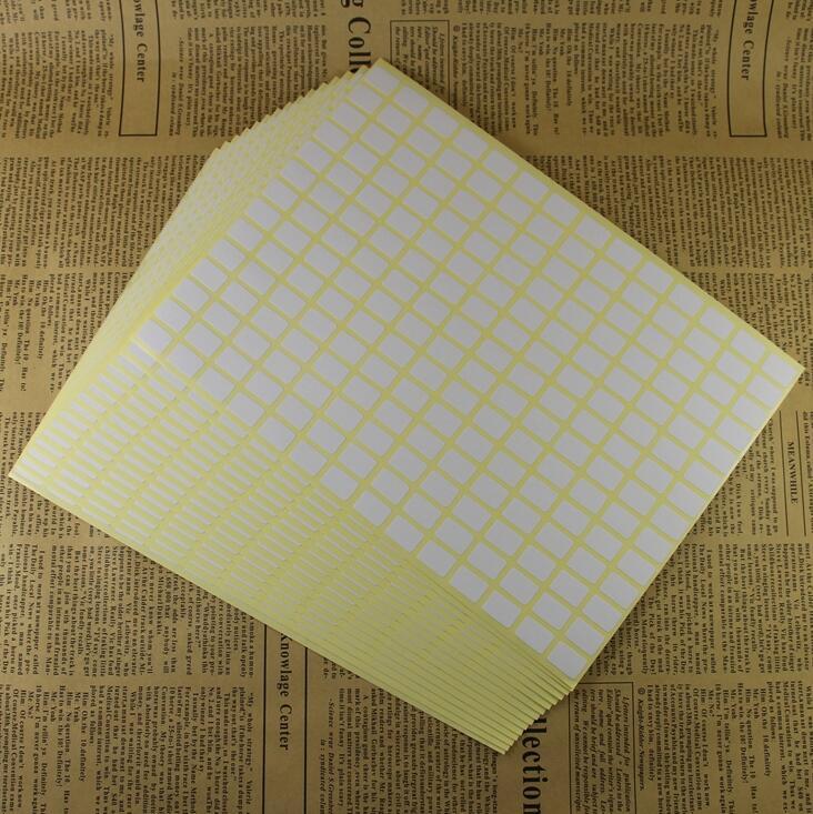 2520pcs A Lot 9x16mm Blank White Sticker Labels Small