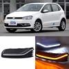 Brand New Updated LED Daytime Running Lights DRL With Black Fog Light Cover For VW POLO