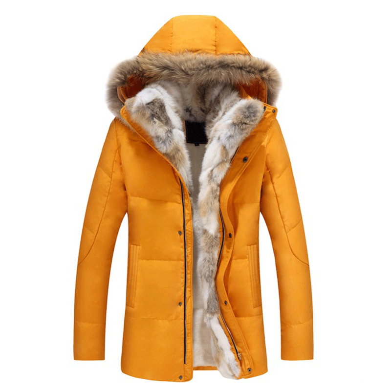 2018 Down Men Winter Jackets Mens Duck Down Coat Men Cashmere Wool Fleece Parka Man Jacket Coats Fur Collar Brand Hooded Parkas