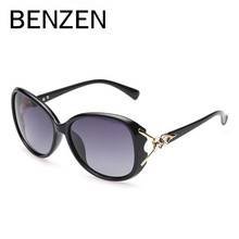 BENZEN Polarized Women Sunglasses Vintage Female Sun Glasses Retro UV Ladies Shades Driving Glasses Black With Case 6271