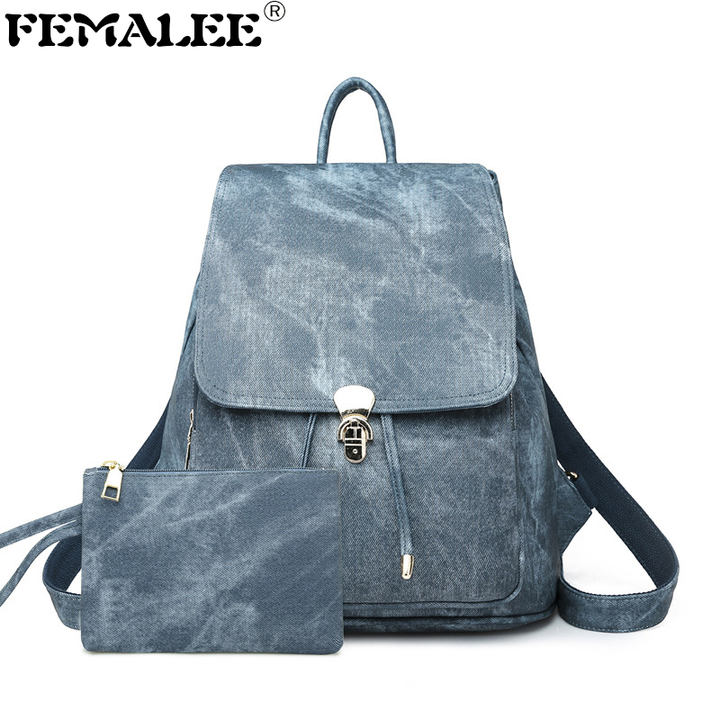 Teenager Girls School PU Leather Retro Waterproof Women Backpack Student Fashion Shoulder Bag Marble Pattern Preppy Mochilas