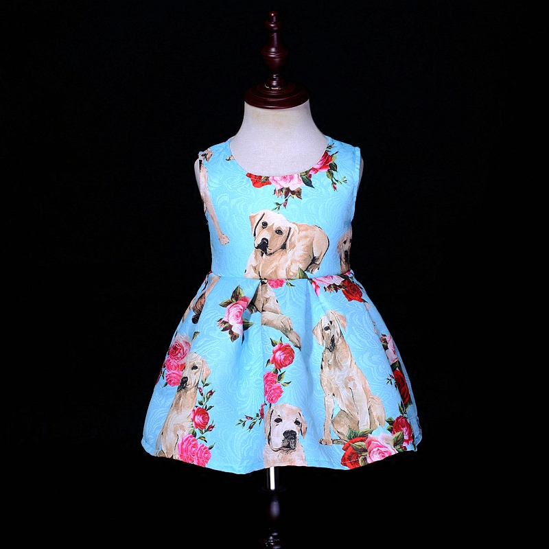 Spring children fashion dress kids mom baby girls dogs print party dress family look matching mother and daughter formal dresses family matching outfits kids girls and mom clothes floral print dress mom girls pleated party skirts mother and daughter dresses