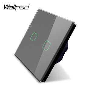 Image 3 - Wallpad K3 Capacitive 2 Gang LED Touch Dimmer Switch 4 Colors Tempered Glass Panel Wall Electrical Light Double Switch for UK EU