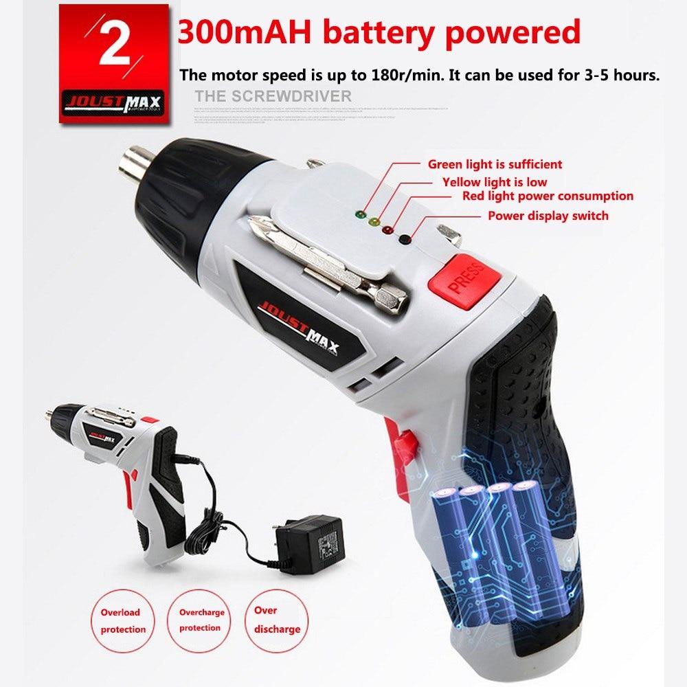 מזגנים רצפתיים 4.8V חשמלי מברג מיני מקדחה אלחוטי 45 ביטים אלחוטי Power עם אור LED Dremel DIY רב תפקוד בית כלים Power (3)