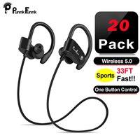 PunnkFunnk 20 шт спортивные Bluetooth 5,0 наушники беспроводные наушники стерео бас гарнитура с микрофоном для xiaomi