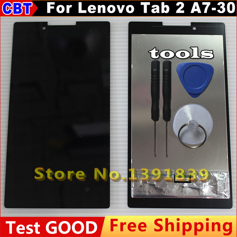 ФОТО For Lenovo Tab 2 A7-30 A7-30HC LCD Display + Touch Screen Digitizer Glass Panel Sensor Assembly Tool + Free Shipping