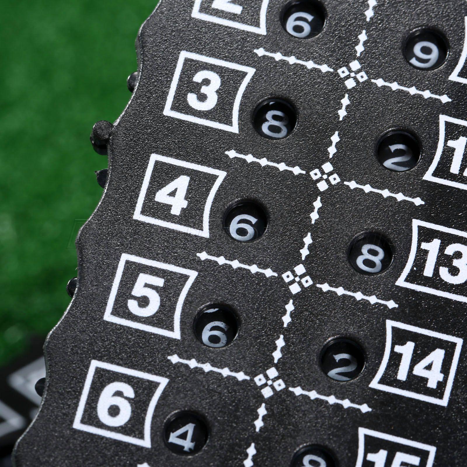 Nueva Negro Plástico de Golf 18 Hoyos Stroke Putt Shot Puntuación Contador Scori