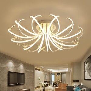Image 3 - 거실 침실 현대 Led 천장 조명 화이트 컬러 알루미늄 avize AC85 265V lamparas 드 수첩 천장 램프 조명기구