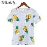 DeRuiLaDy 2017 Summer Refreshing Funny T Shirts Fashion O Neck Cute Women T Shirt Ice Cream