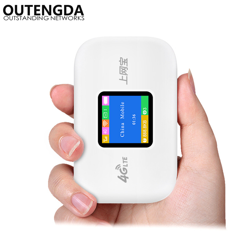 Débloqué 4G WIFI routeur Mini Portable 3G 4G LTE sans fil poche Mobile WiFi Hotspot voiture WIFI routeur avec fente pour carte SIM