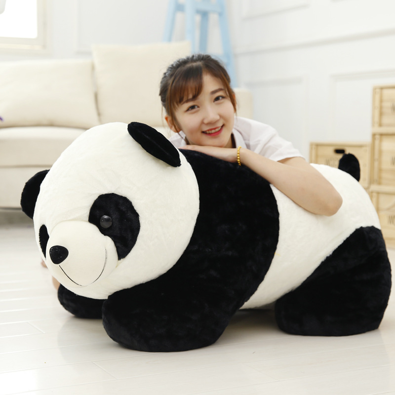 90cm Cute Kneeling Panda Plush Toy Panda Dolls soft toys for Children Girls stuffed animals bear doll chlidren gifts girl qc stuffed animal toy store panda plush panda kids toys cute football panda doll baby gifts