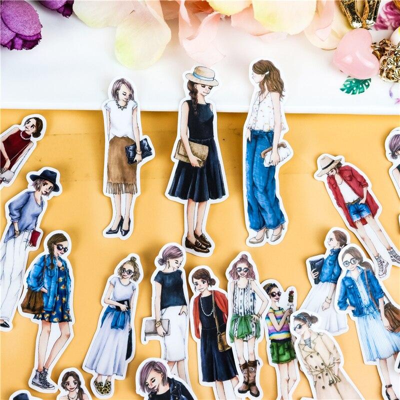 35 шт., милые наклейки для скрапбукинга с милыми руками для девочек, декоративные наклейки, DIY Фотоальбомы для детей
