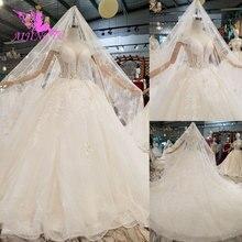 AIJINGYU robe de mariée Vintage, deux pièces luxueux, sexy, taille supérieure en dentelle, tenue de mariage 18