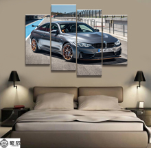 Home Decor Modular Canvas Picture 4 Piece Super Sports Car Scenery Art Painting Poster Wall For Home Canvas Painting Wholesale canvas painting poster colourful leaf trees 4 piece painting wall art modular pictures for home decor wall art picture painting