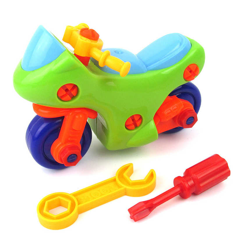 DIY Motorbike Toy Disassembly Assembly Classic Early Educational Learning Build Block Toys For Children Kids gifts drop shipping