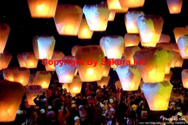 Sakura's Free DHL 100pcs/lot+factory Price Colorful Good quality Fireproof Sky lanterns/ Oval&Heart Shape wishing lantern