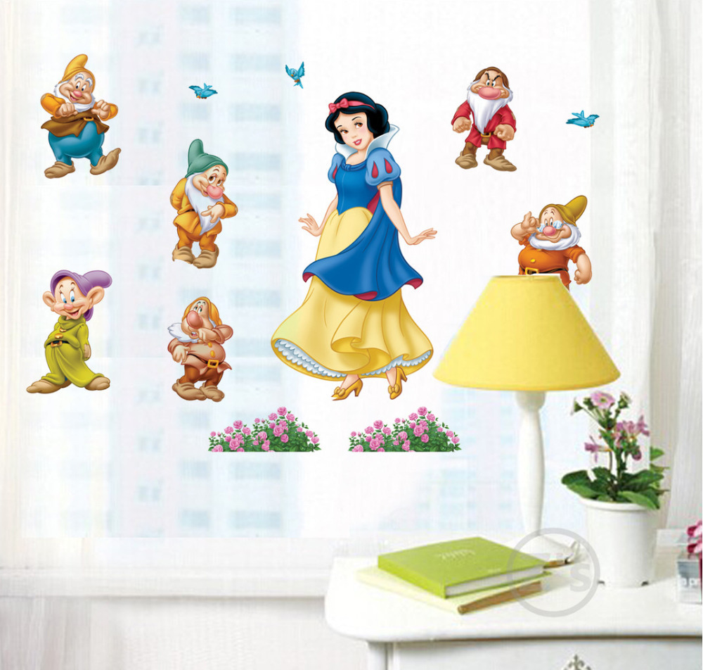Snow white princess wall sticker home decor cartoon wall decal diy snow white princess wall sticker home decor cartoon wall decal diy for kids room decal baby vinyl mural nursery abc603 in wall stickers from home garden amipublicfo Image collections