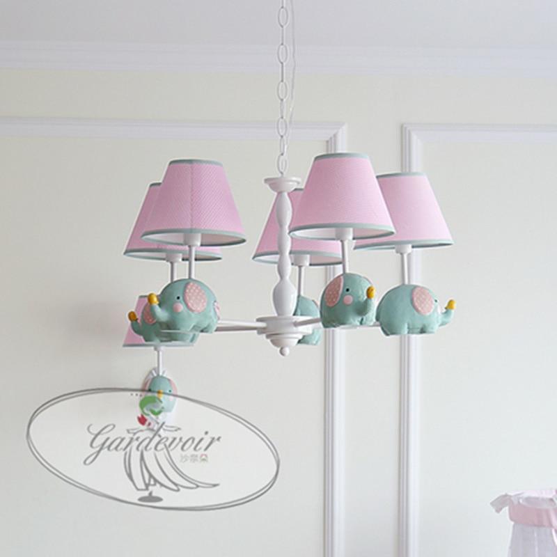 Cartoon Children bedroom lamp antique metal chandelier Creative ...