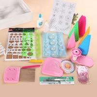 19Pcs DIY Paper Quilling Handmade Tools Set Template Tweezer Pins Slotted Tool Kit Paper Card Crafts Decorating Tools Artwork