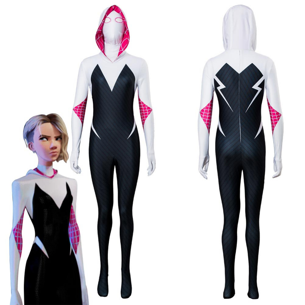 Spiderman Gwen Stacy Cosplay Costume  Parallel Universe Spider-man Spider-Gwen Cosplay Costume Outfit Halloween Carnival Costume