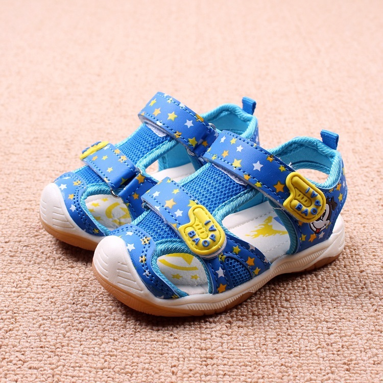 Childrens Sandals Summers New Boys And Girls Cartoon Hollow Cloth Boutique Babys Shoes Eur 21 - 26 #2