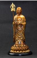 27CM # Bless safe health magic weapon # office home house efficacious Protection # Jiuhuashan Ksitigarbha Bronze statue