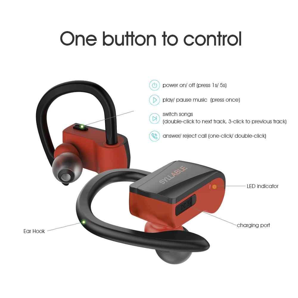 Оригинальный слог D15 TWS истинные беспроводные стерео наушники спортивные бас bluetooth наушники с микрофоном гарнитура для Android IOS