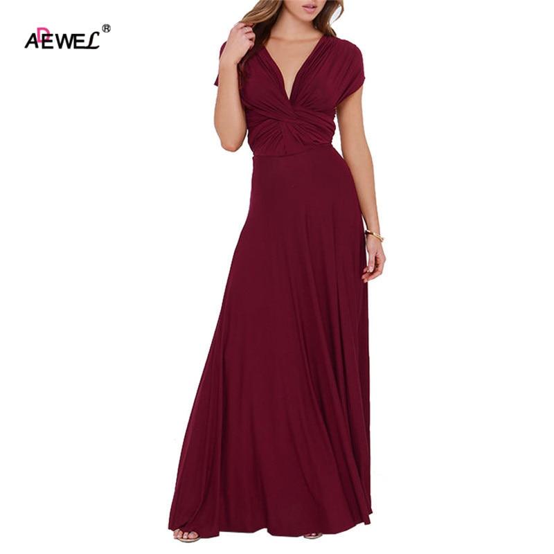 ADEWEL 15 Colors/Multi Wearing Floor Long Formal Women Dresses Sleeveless Sexy Maxi Dress Party Wear Vestidos Largos De Verano